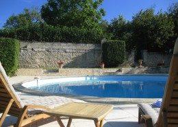Le Castel De Camillac, Bourg en Gironde (Aquitaine) : la piscine