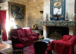 Le Castel De Camillac, Bourg en Gironde (Aquitaine) : le salon