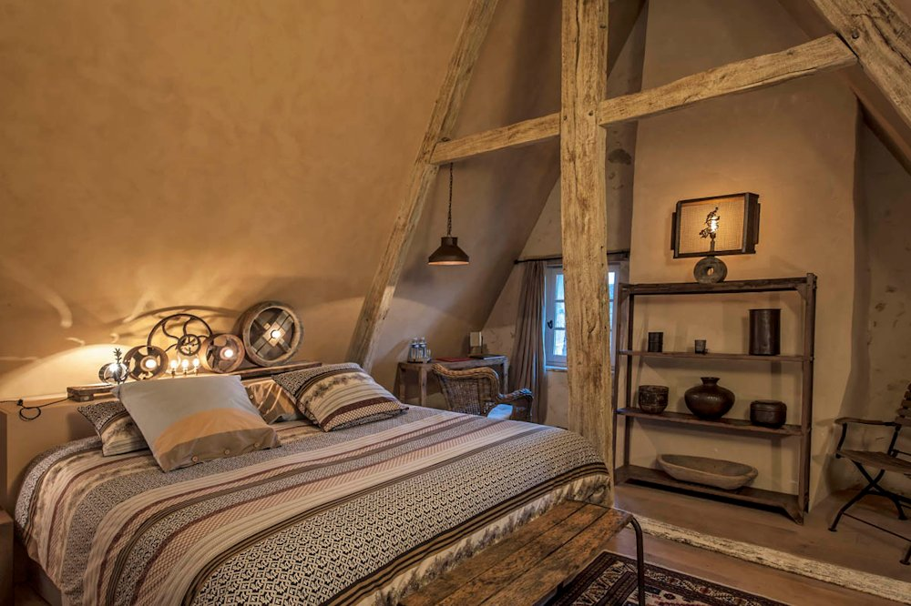 Hôtel De Suhard, Bellême : chambre du Sieur de la Noë