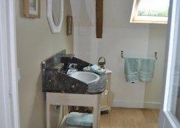 Ker Liviou, Lancieux : salle de bain sable