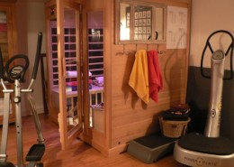 Les Glycines, Billiers (Morbihan) : sauna