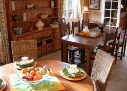 Les Terrasses de Jean, Pierrefitte en Auge : petit déjeuner