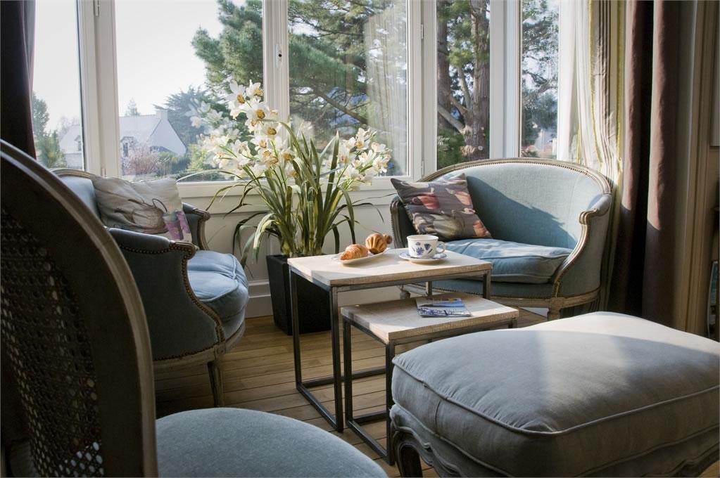 Villa Christilla, maison d'hôte de charme Saint-Lunaire (Bretagne) : salon