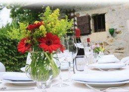 La Belle Epoque, chambres d'hôtes à Sansac de Marmiesse : table d'hôtes