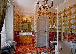 Domaine De Gaudon, Ceilloux : sdb le jardin aux amours
